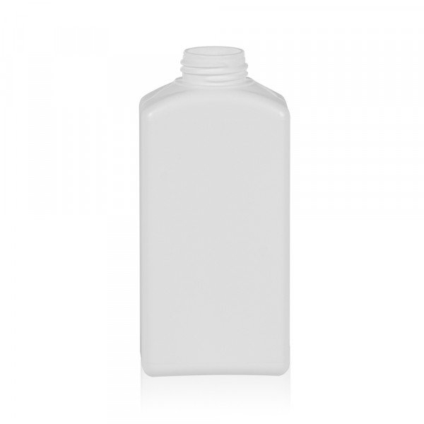 250 ml fles Standard Square HDPE wit 28.410