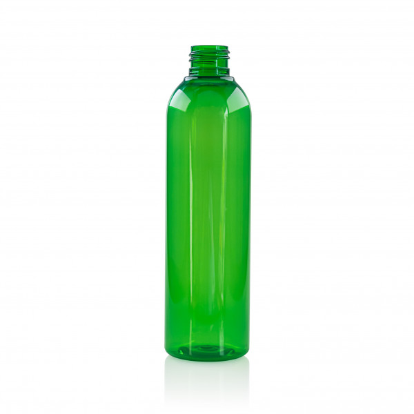 250 ml fles Basic Round PET groen 24.410
