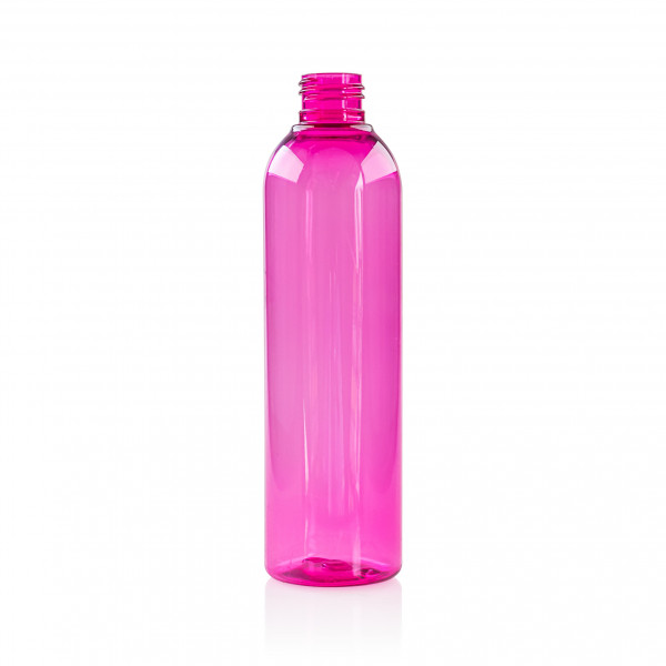 250 ml fles Basic Round PET roze 24.410
