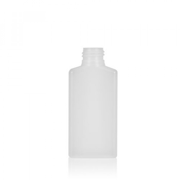 100 ml fles Mailbox Rectangle HDPE naturel 24.410