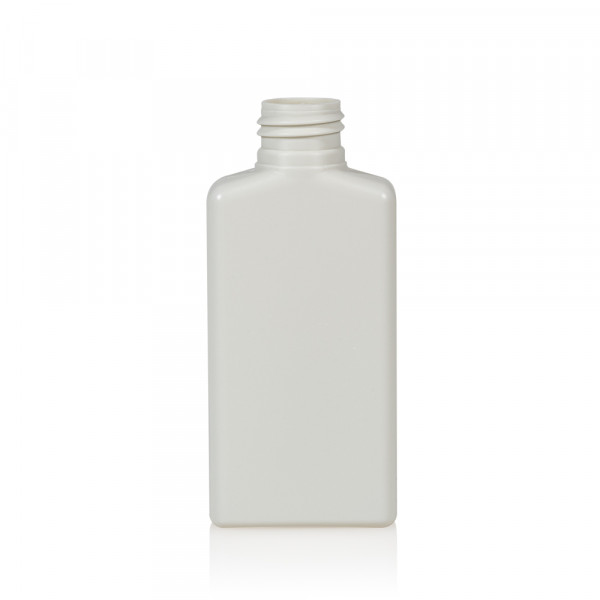 100 ml fles Mailbox Rectangle HDPE wit 24.410