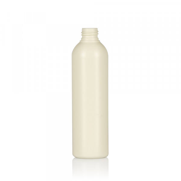 250 ml fles Basic Round gerecycled HDPE ivoor 24.410