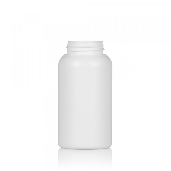 250 ml fles Compact round HDPE wit 567