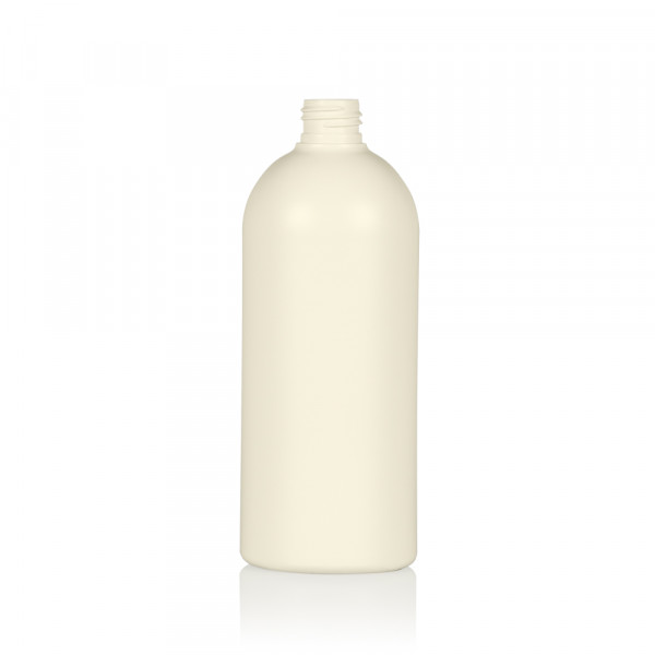 500 ml fles Basic Round gerecycled HDPE ivoor 24.410