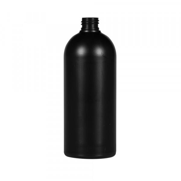 500 ml fles Basic Round HDPE zwart 24.410