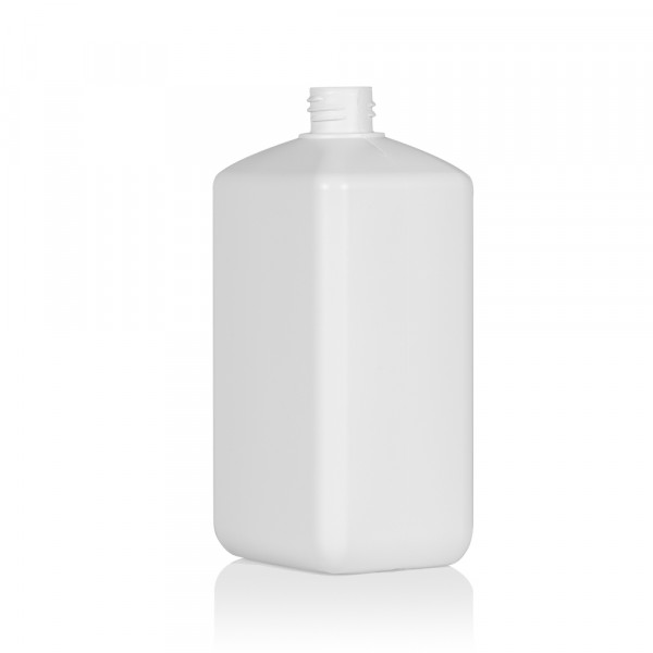1000 ml fles Standard Square HDPE wit 28.410