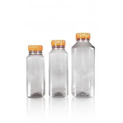 100% Gerecycled Juice Square R-PET Flessen