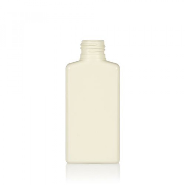 100 ml fles Mailbox Rectangle gerecycled HDPE ivoor 24.410