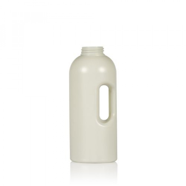 1000 ml doseerfles Compact Round gerecycled HDPE ivoor One2dose D43