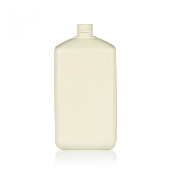 1000 ml fles Standard Square gerecycled HDPE ivoor 28.410