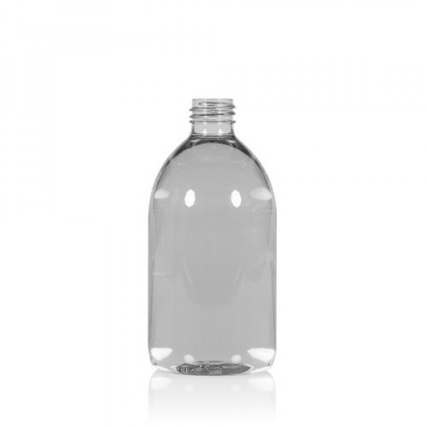 500 ml fles Soap gerecycled PET transparant 28.410