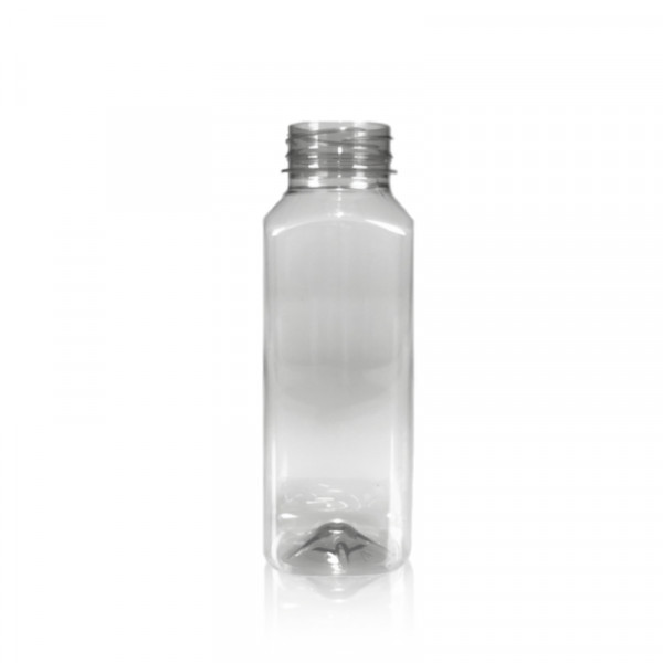 330 ml sap fles Juice Square gerecycled R-PET transparant