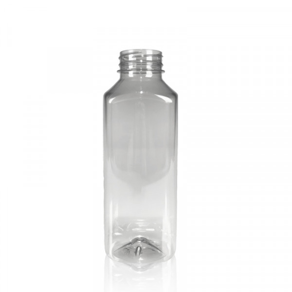500 ml sap fles Juice Square gerecycled R-PET transparant