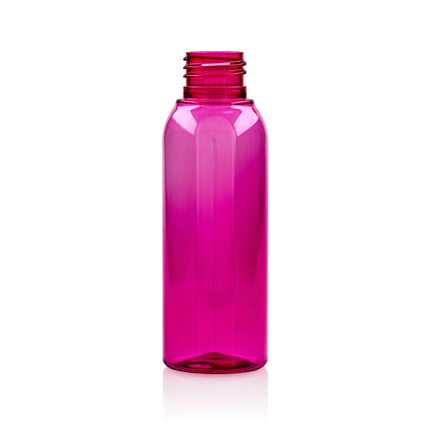 100 ml fles Basic Round PET roze 24.410