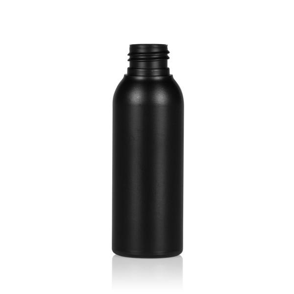 100 ml fles Basic Round HDPE zwart 24.410