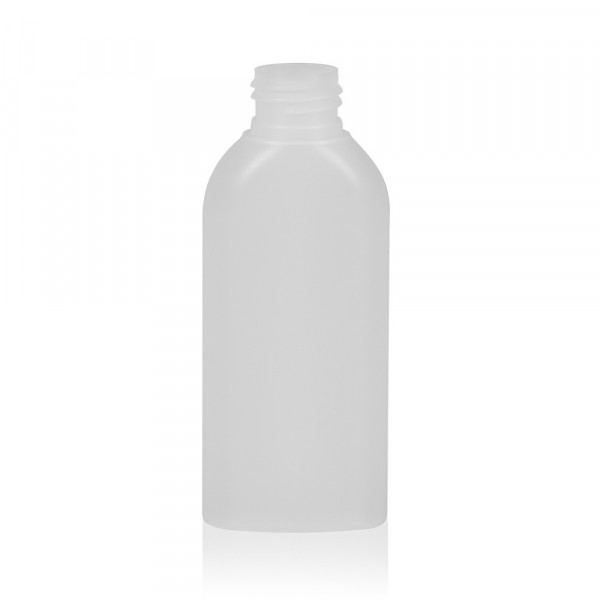 100 ml fles Basic Oval HDPE naturel 24.410