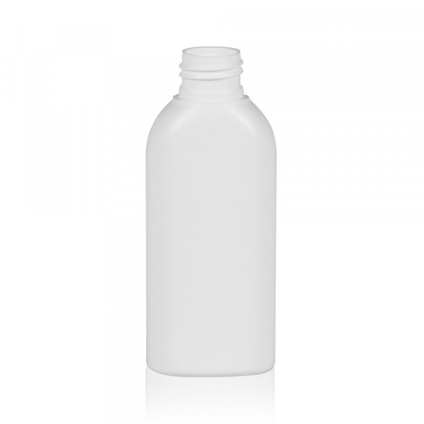 100 ml fles Basic Oval HDPE wit 24.410