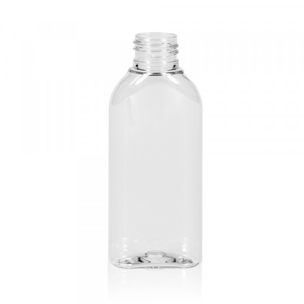 100 ml fles Basic Oval PET transparant 24.410