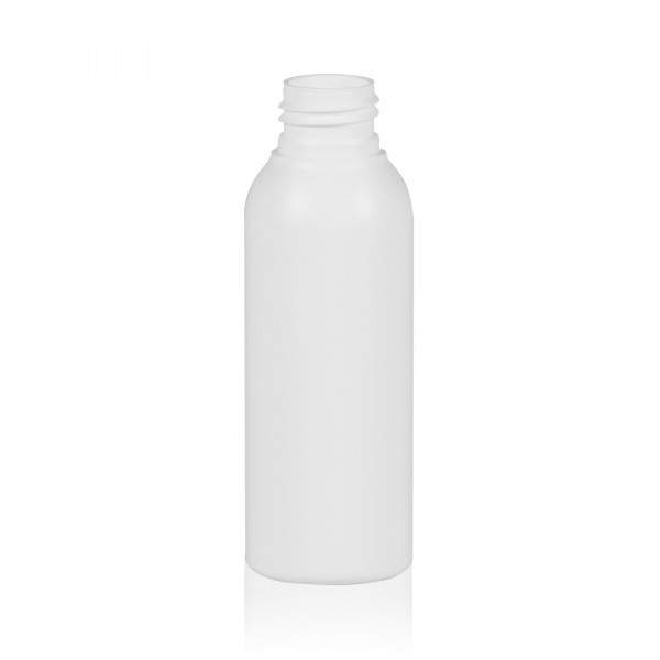100 ml fles Basic Round HDPE wit 24.410