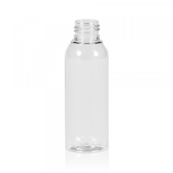 100 ml fles Basic Round PET transparant 24.410