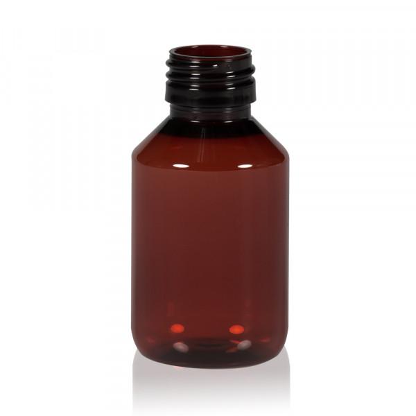 100 ml fles Pharma PET bruin 28.410