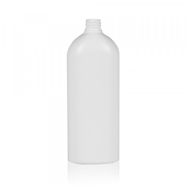 1000 ml fles Basic Oval HDPE wit 28.410