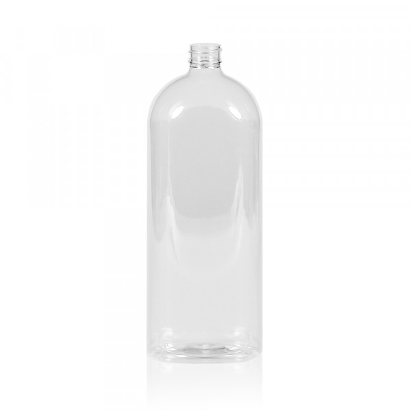 1000 ml fles Basic Oval PET transparant 28.410