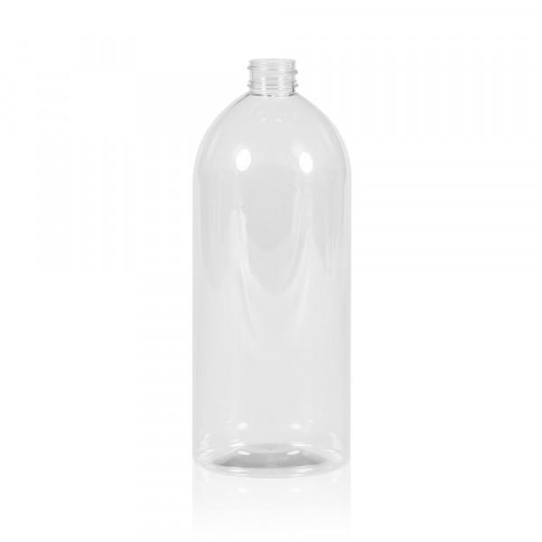 1000 ml fles Basic Round PET transparant 28.410