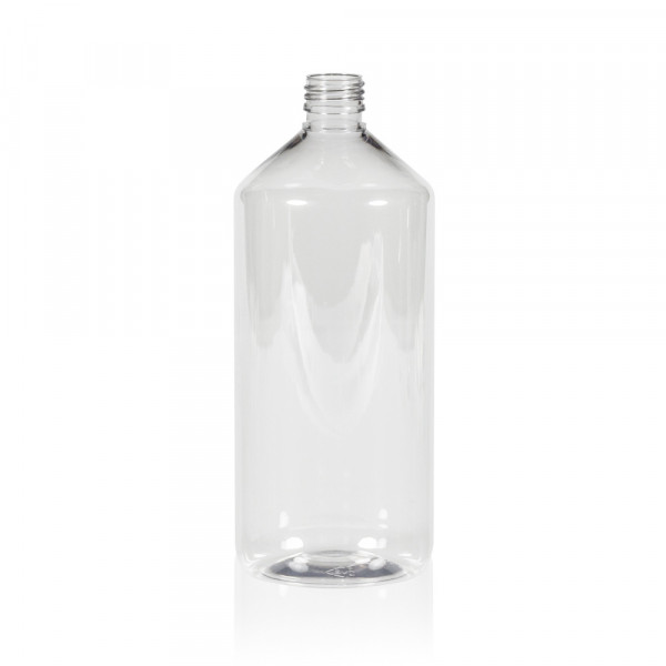 1000 ml fles Pharma PET transparant 28.410