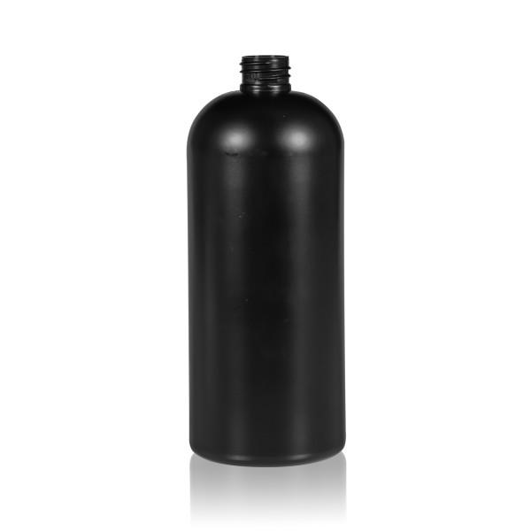 1000 ml fles Basic Round HDPE zwart 28.410