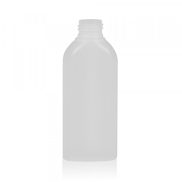 125 ml fles Basic Oval HDPE naturel 24.410