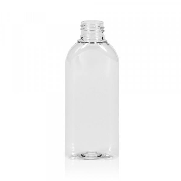 125 ml fles Basic Oval PET transparant 24.410