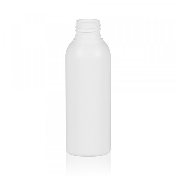 125 ml fles Basic Round HDPE wit 24.410
