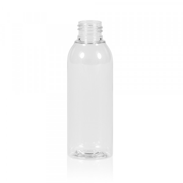 125 ml fles Basic Round PET transparant 24.410