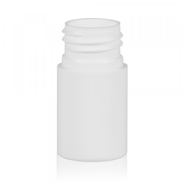 15 ml fles Basic Round HDPE wit 24.410