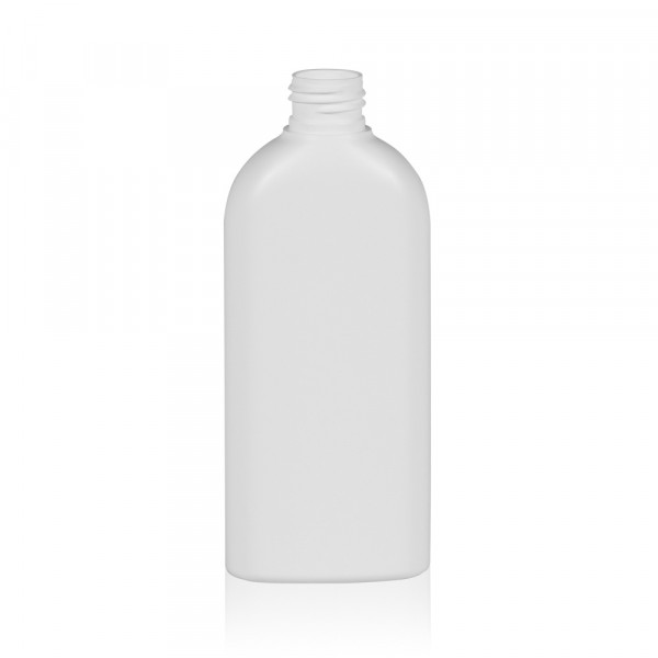 200 ml fles Basic Oval HDPE wit 24.410