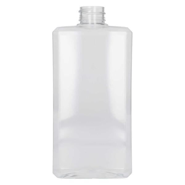 500 ml fles Basic Rectangle PET Transparant
