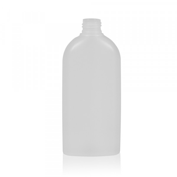 250 ml fles Basic Oval HDPE naturel 24.410