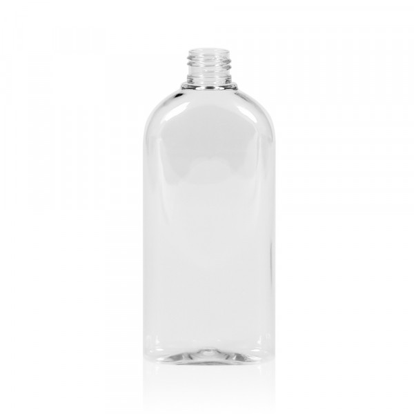 250 ml fles Basic Oval PET transparant 24.410