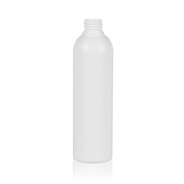 250 ml fles Basic Round HDPE wit 24.410