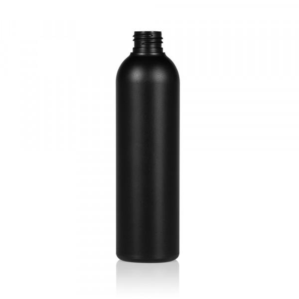 250 ml fles Basic Round HDPE zwart 24.410