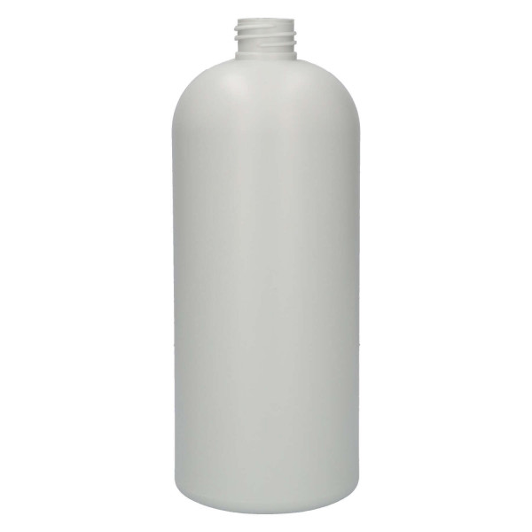 1000 ml fles Basic Round gerecycled HDPE ivoor 28.410