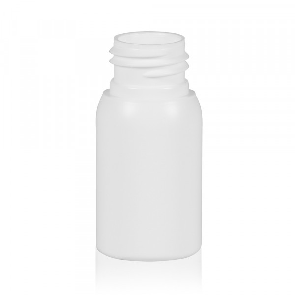 30 ml fles Basic Round HDPE wit 24.410