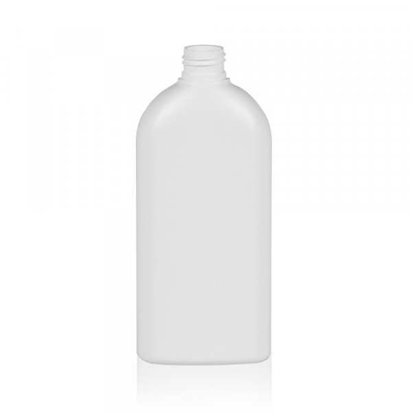 300 ml fles Basic Oval HDPE wit 24.410