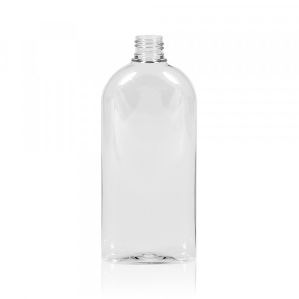 300 ml fles Basic Oval PET transparant 24.410