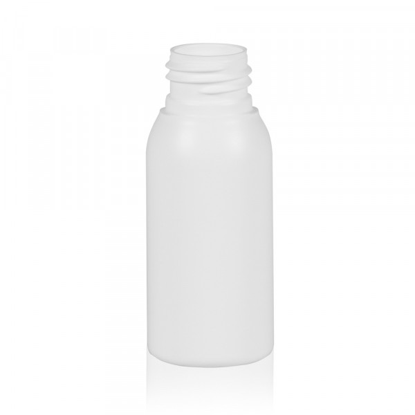50 ml fles Basic Round HDPE wit 24.410
