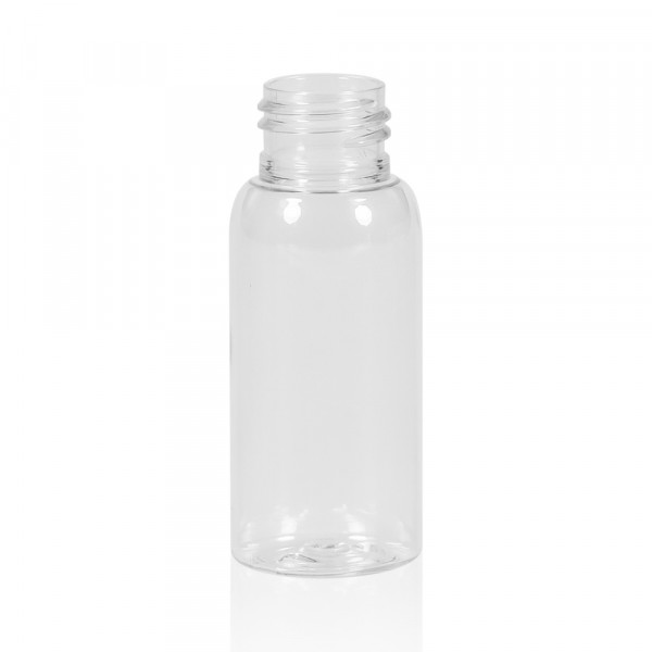 50 ml fles Basic Round PET transparant 24.410
