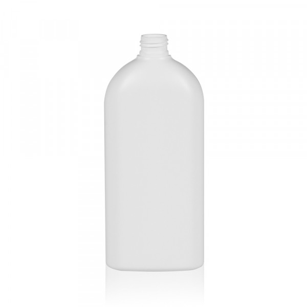 500 ml fles Basic Oval HDPE wit 24.410