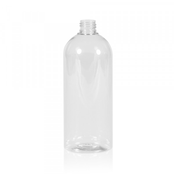 500 ml fles Basic Round PET transparant 24.410
