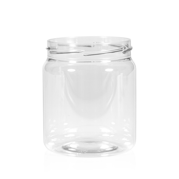 500 ml Clear cylinder PET transparant